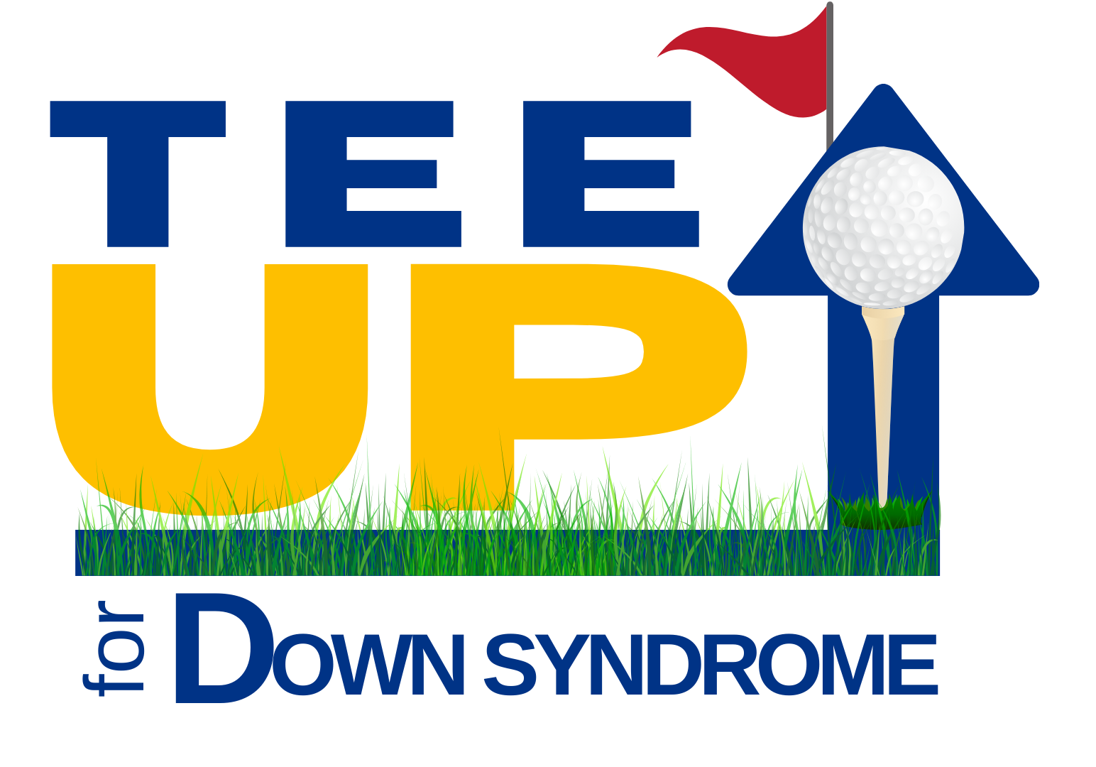 TEE UP logo- blue and yellow